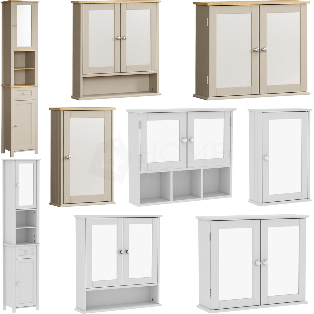 bathroom cabinet single mirrored doors wall 14615