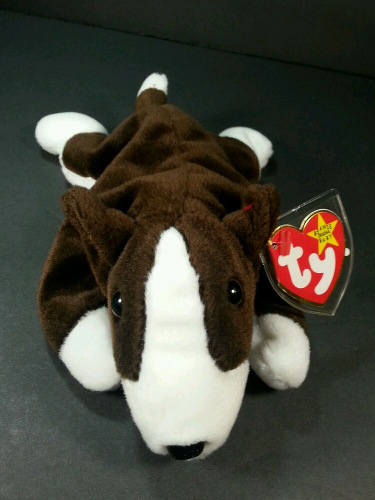 9cad16f85cc Details about TY Beanie Baby Bruno the Bull Terrier Dog 1997 Retired