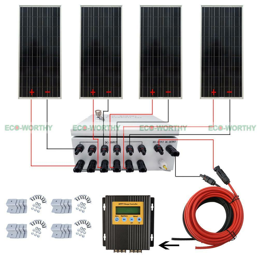 400w 12v Off Grid Complete Solar Panel Systems With