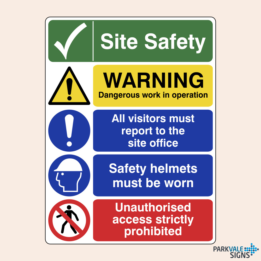 Construction Site Safety Signs Dangerous Work Ebay