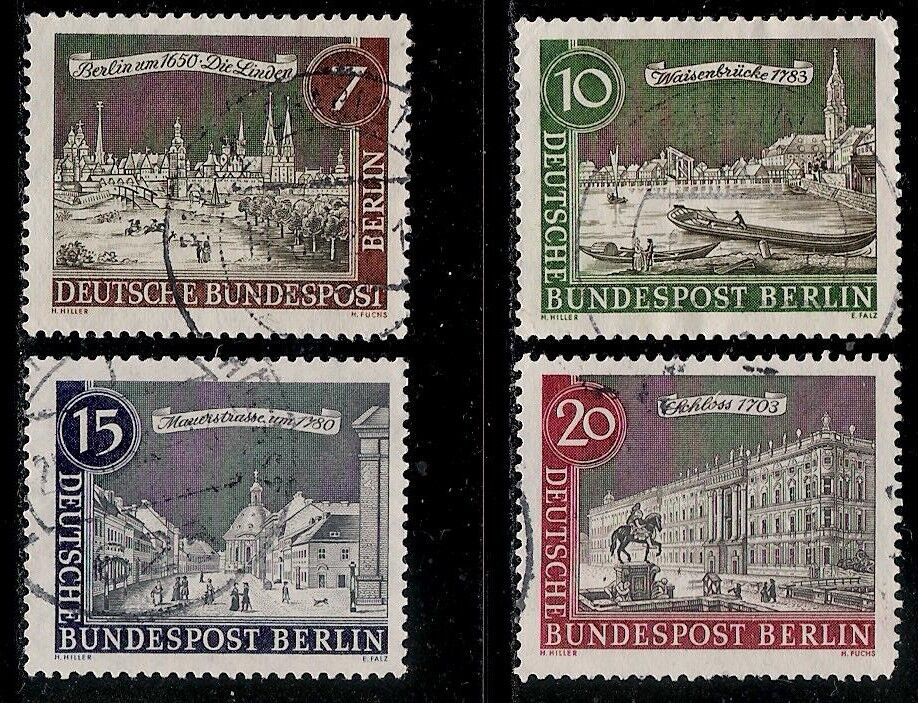 germany berlin 1962 old value stamps berlin landmarks ebay. Black Bedroom Furniture Sets. Home Design Ideas