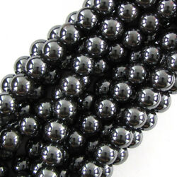 Kyпить Natural Hematite Round Beads Gemstone 15.5