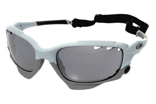 oakley jacket sunglasses vvqv  New Oakley Racing Jacket Sunglasses Matte Blue Ice/Gray Vented Made In USA!