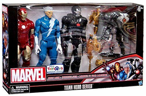 marvel titan hero series 12 action figure 3 pack iron man quicksilver war ebay. Black Bedroom Furniture Sets. Home Design Ideas