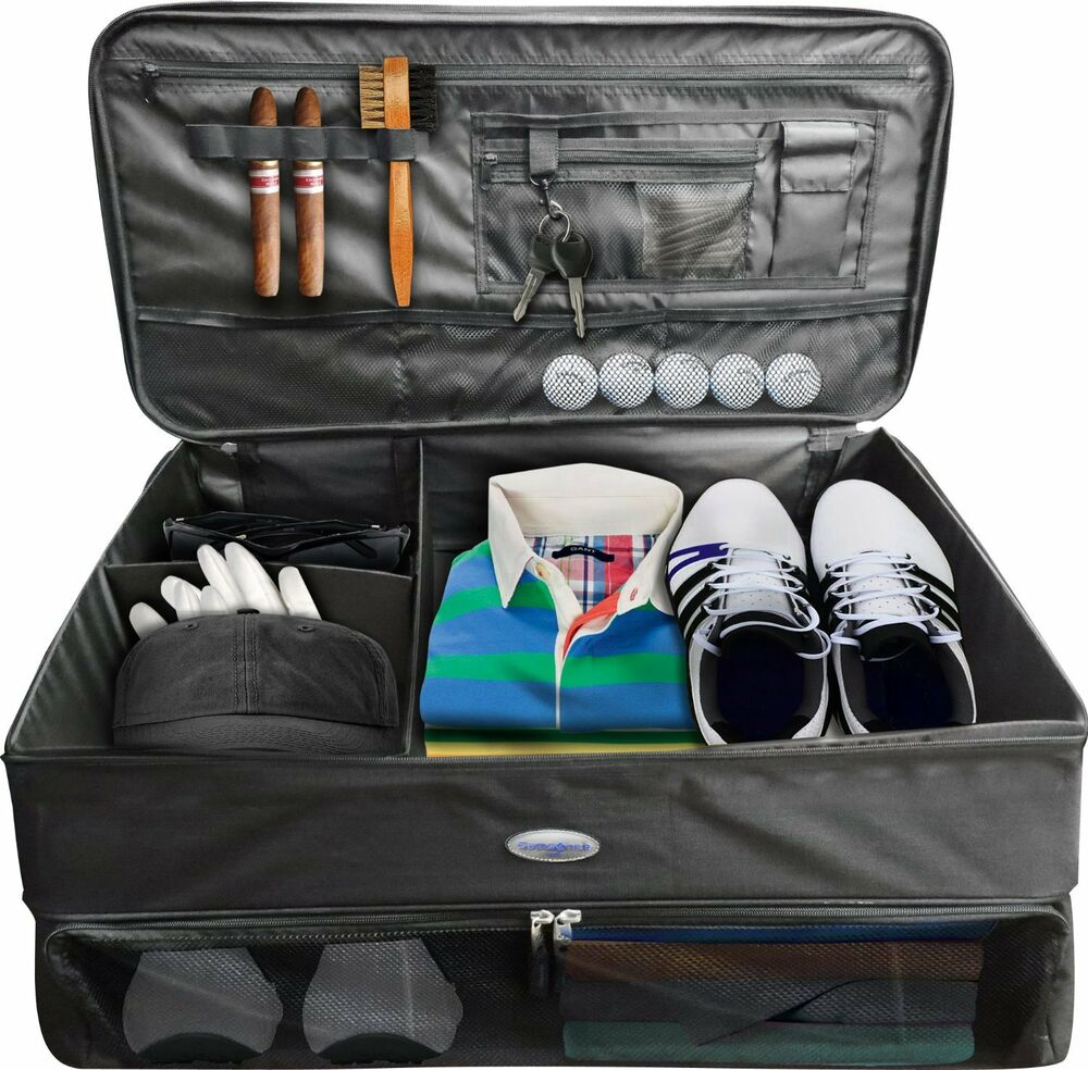 NEW Samsonite Golf Trunk Organizer Travel Bag Case Shoes Compartments | eBay