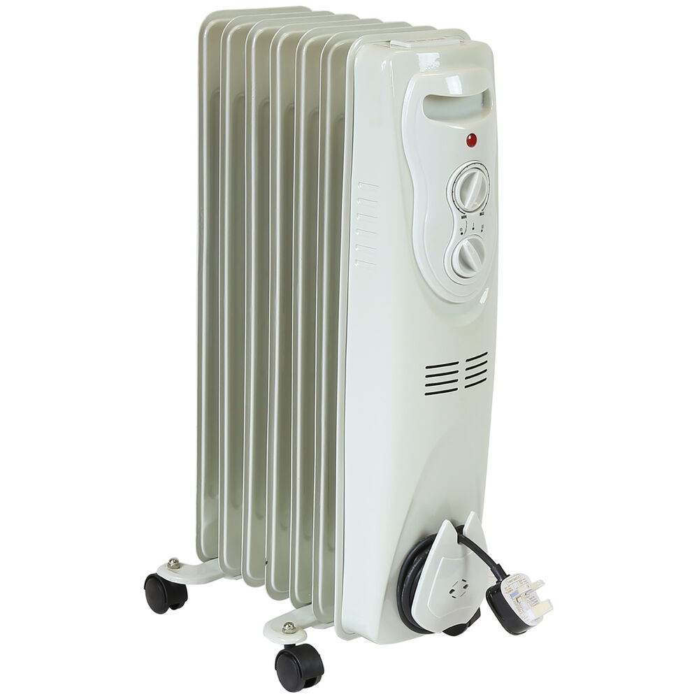 Electric Oil Radiator ~ Charles bentley portable oil filled electric radiator w