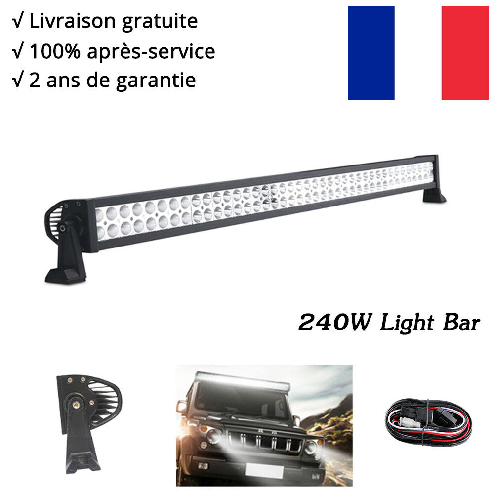 240w barre led rampe spot projecteur 12v suv offroad tout terrain phare travail ebay. Black Bedroom Furniture Sets. Home Design Ideas