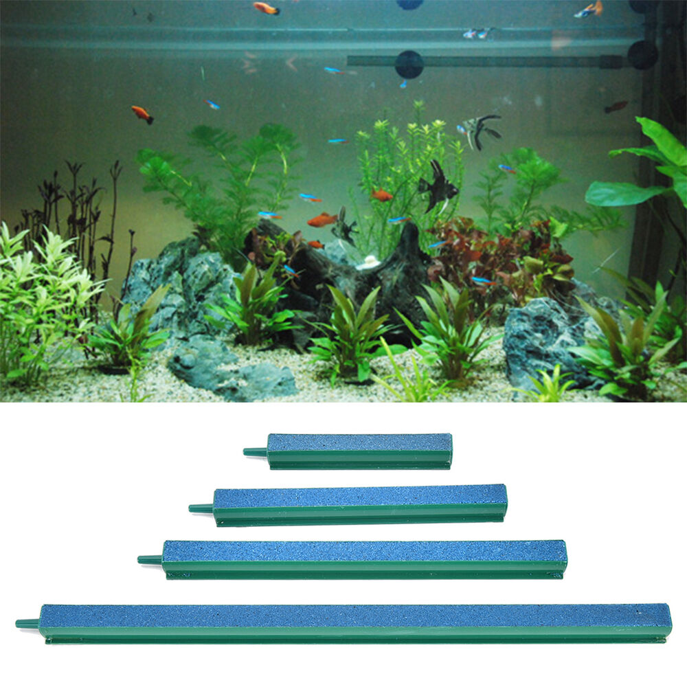 4size fresh air stone bubble bar aquarium fish tank for Hydroponic fish tank