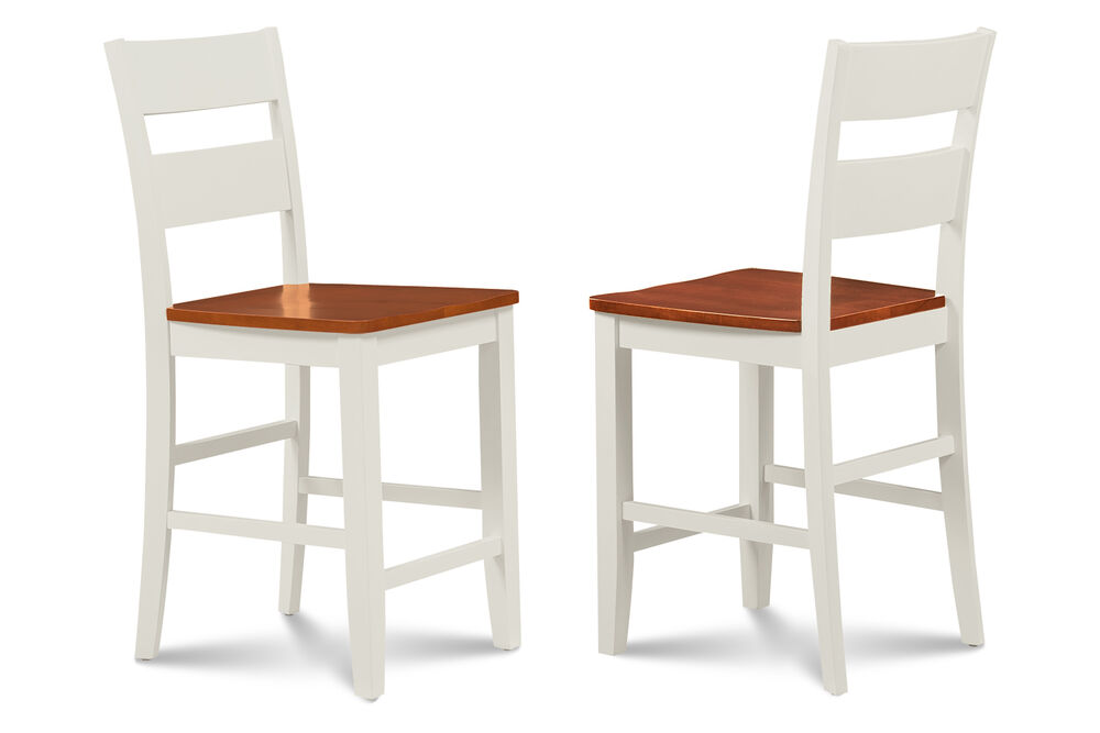 Counter Height White Dining Set : SET OF 4 KITCHEN COUNTER HEIGHT DINING CHAIR BAR STOOL WHITE CHERRY ...