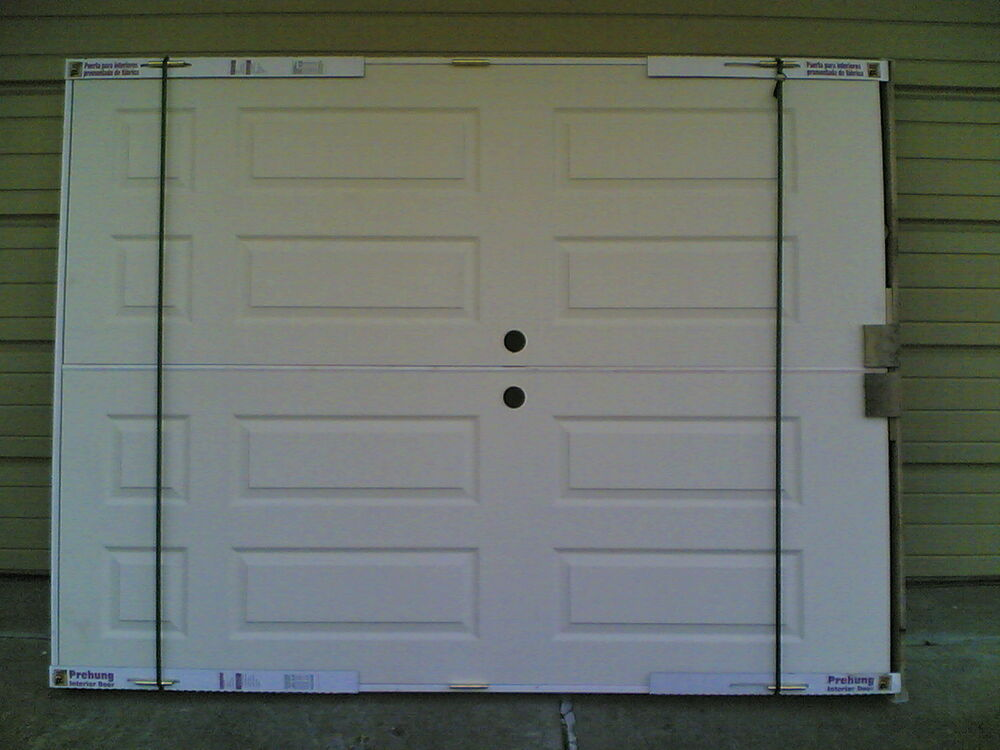 Brand New Double Pre Hung Hollow Core 6 Panel Interior Doors 60 W X 80 H Ebay