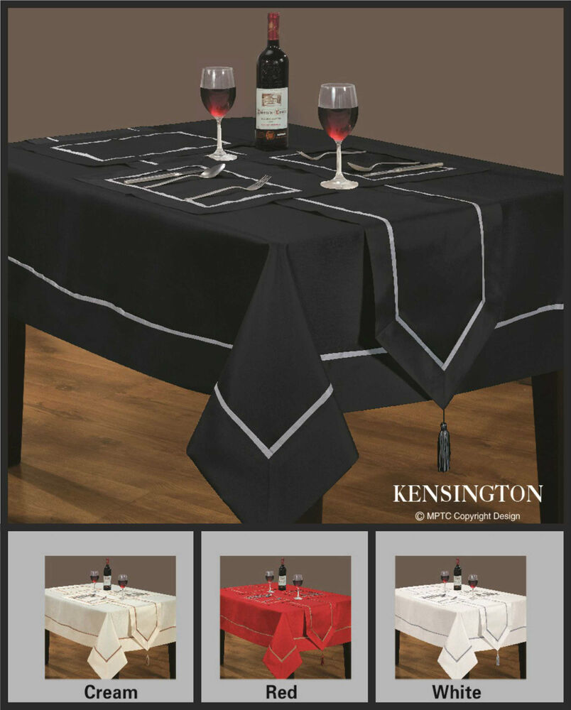 Tablecloth Dining Room Faux Silk Red Cream Black White  : s l1000 from www.ebay.co.uk size 804 x 1000 jpeg 92kB