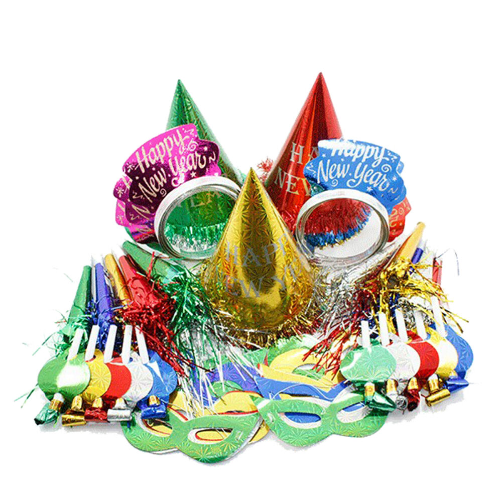 New Years Eve Super Value Multi Colored Party Pack Kit for ...