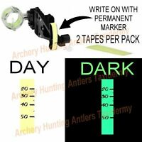 Adhesive GLOW IN THE DARK Bow Sight TAPE Archery BRIGHT! NEW 2 PCS PER PACK