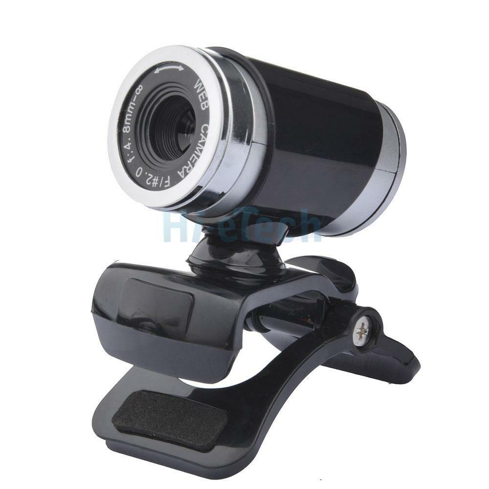USB 12MP HD Camera Web Cam 360°Rotation With Mic Clip-on