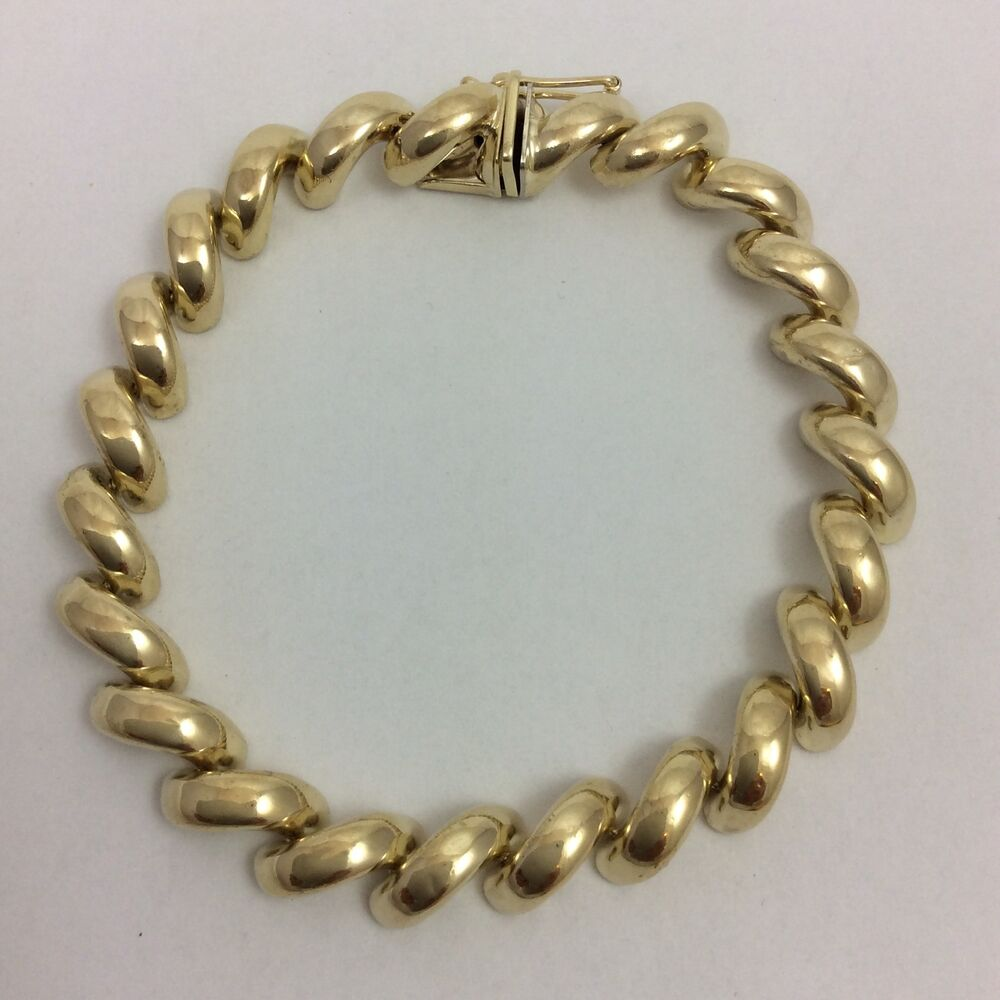 14k yellow gold marco bracelet ebay