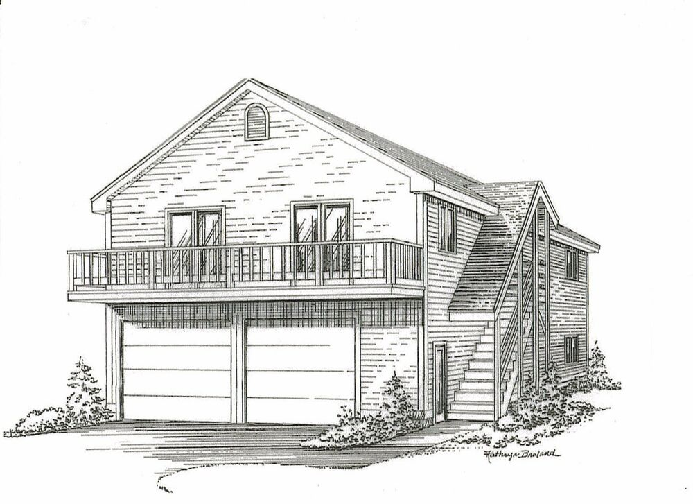 28 x 44 2 car garage building plans w 2nd floor open loft for 24x24 garage plans