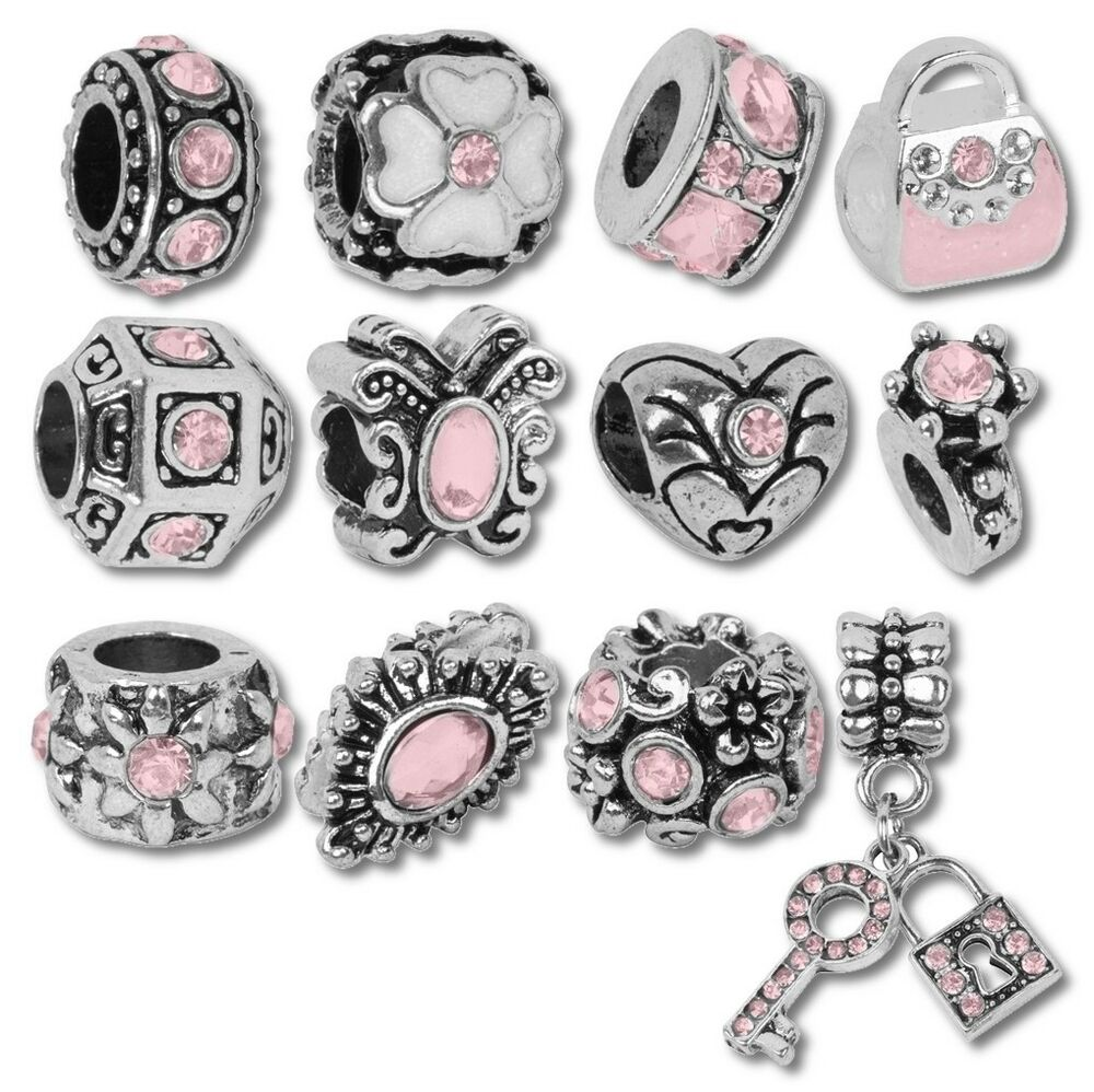 Beads And Charms For European Charm Bracelets October Rose