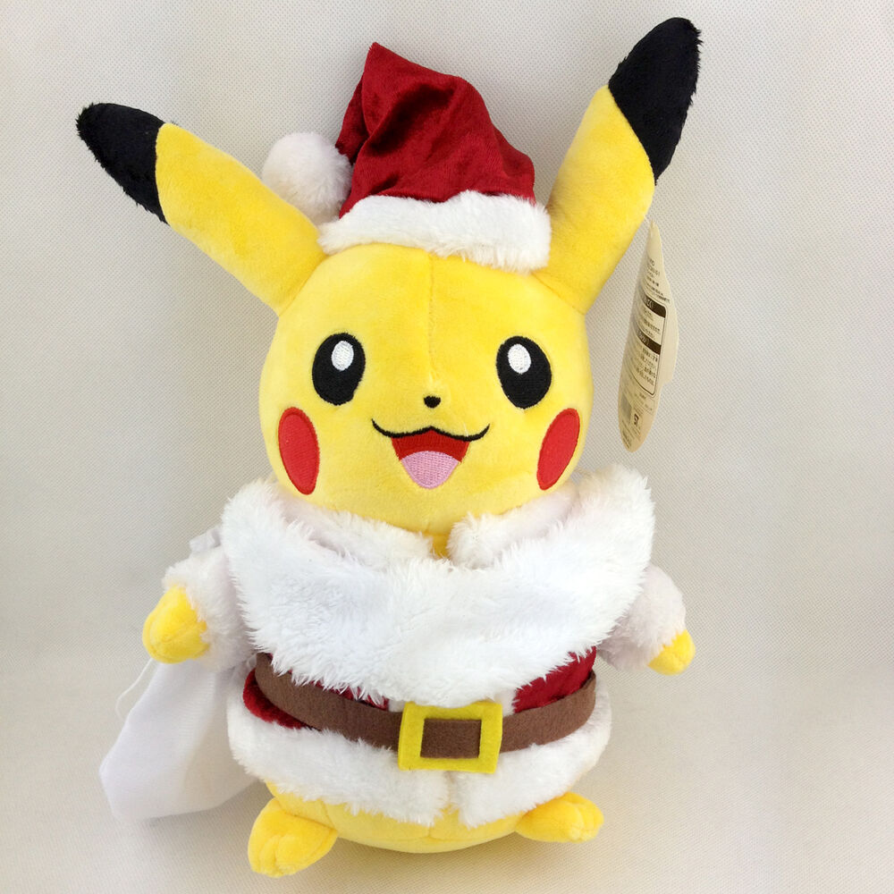 Toys From Santa : Christmas santa claus pikachu pokemon mas ver plush toy