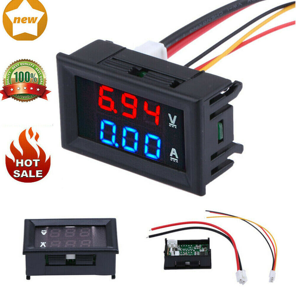 Dc Voltage Digital Panel Meters : Dc v a digital led panel voltmeter ammeter current