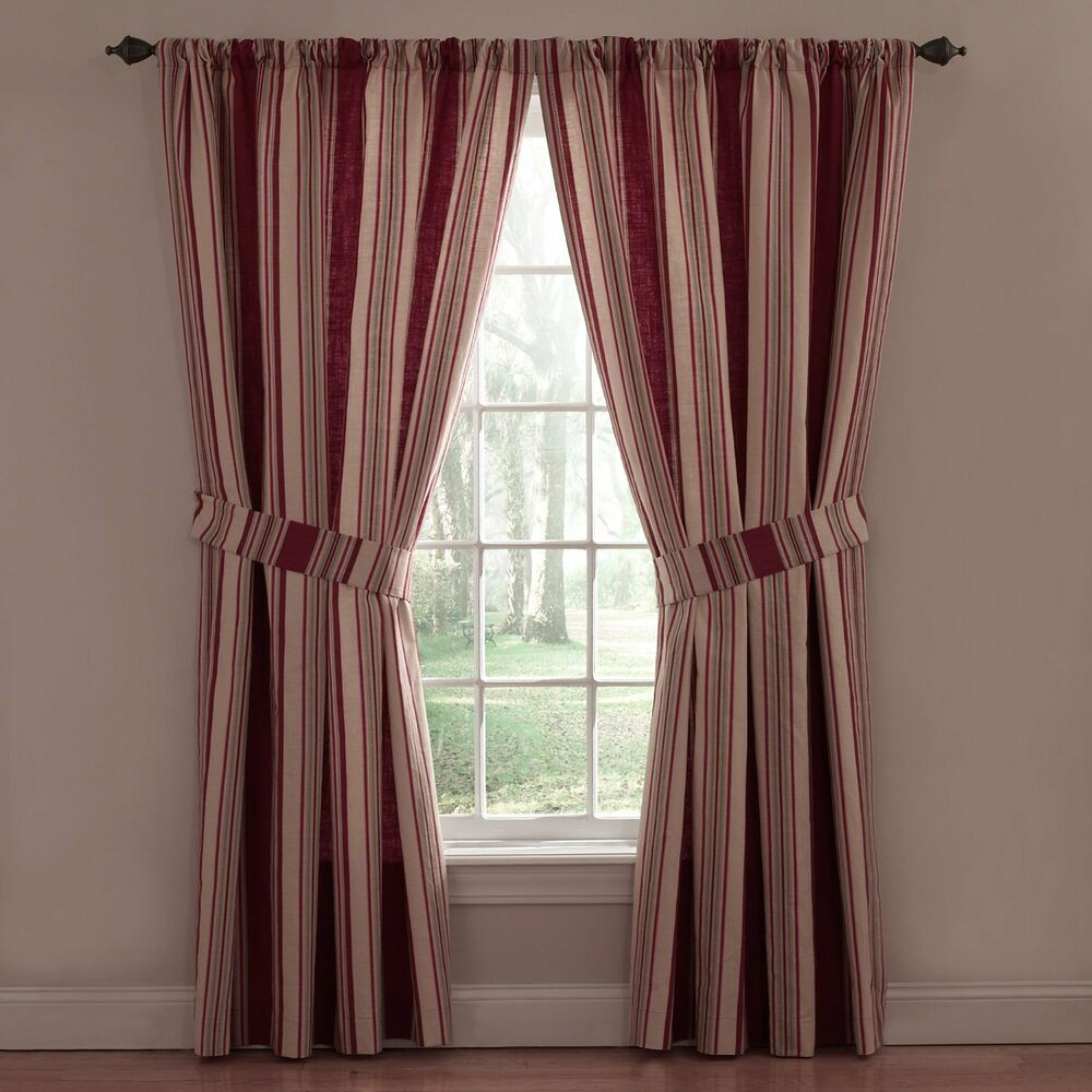 Waverly 2 Lined Panels Drapery Curtains Ballad Bouquet Red