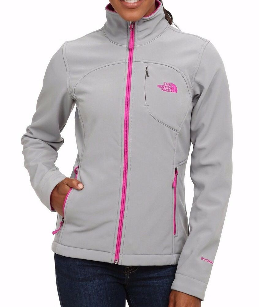 e922ff9bf4b4 Details about THE NORTH FACE Apex Bionic Womens XS XL Jacket Coat Mid Grey  Pink NEW  150