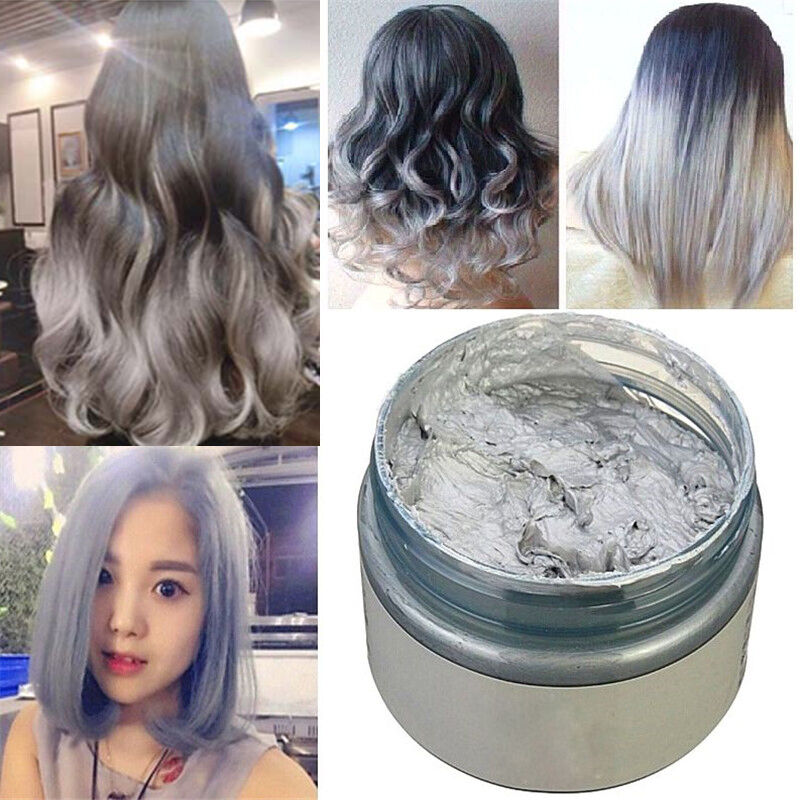 Unisex DIY Hair Color Wax Mud Dye Cream Temporary Modeling New  EBay