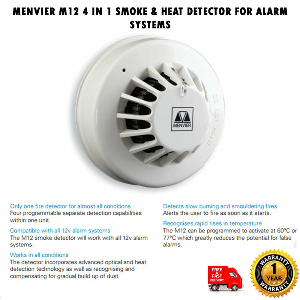 s l1000 menvier m12 4 in 1 smoke & heat detector for alarm systems ebay menvier smoke detector wiring diagram at virtualis.co