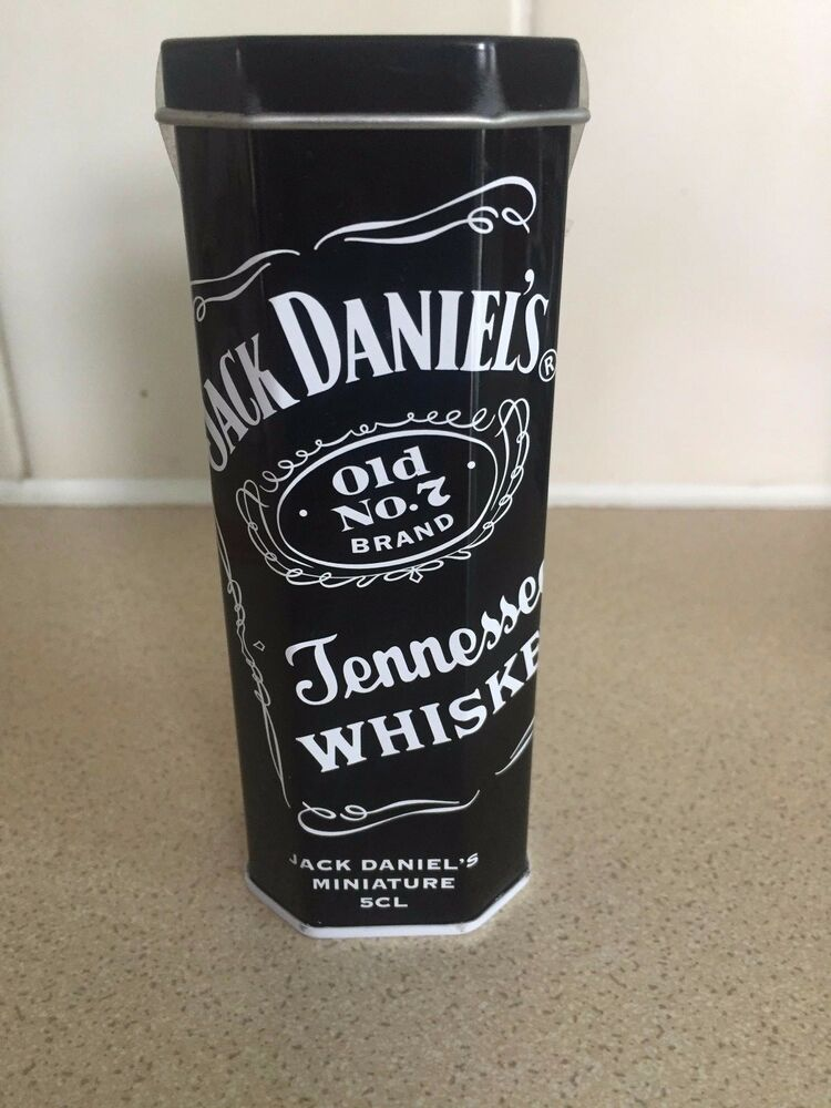 rare jack daniels minature tin plus bottle from 2004 ebay. Black Bedroom Furniture Sets. Home Design Ideas