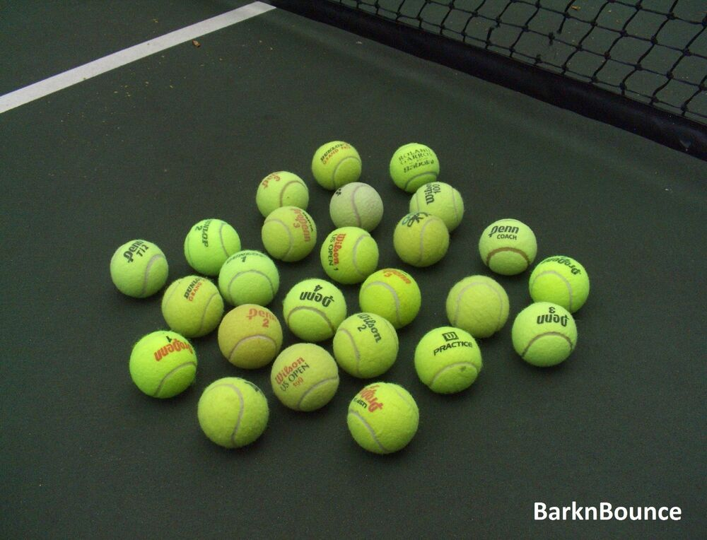 25 USED Tennis Balls - Dog Toys - Catch - Table & Chair ...