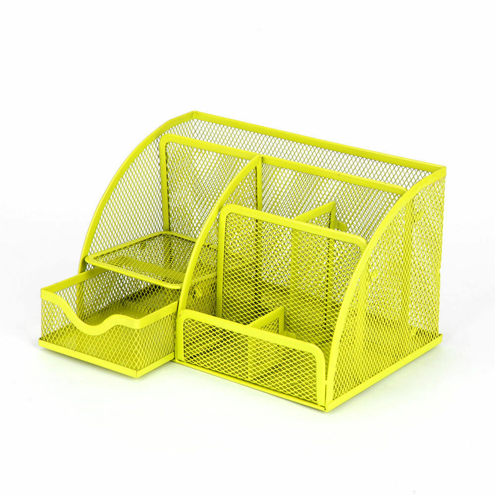 Mesh Storage Organizer Desk Desktop Holder Office Supplies
