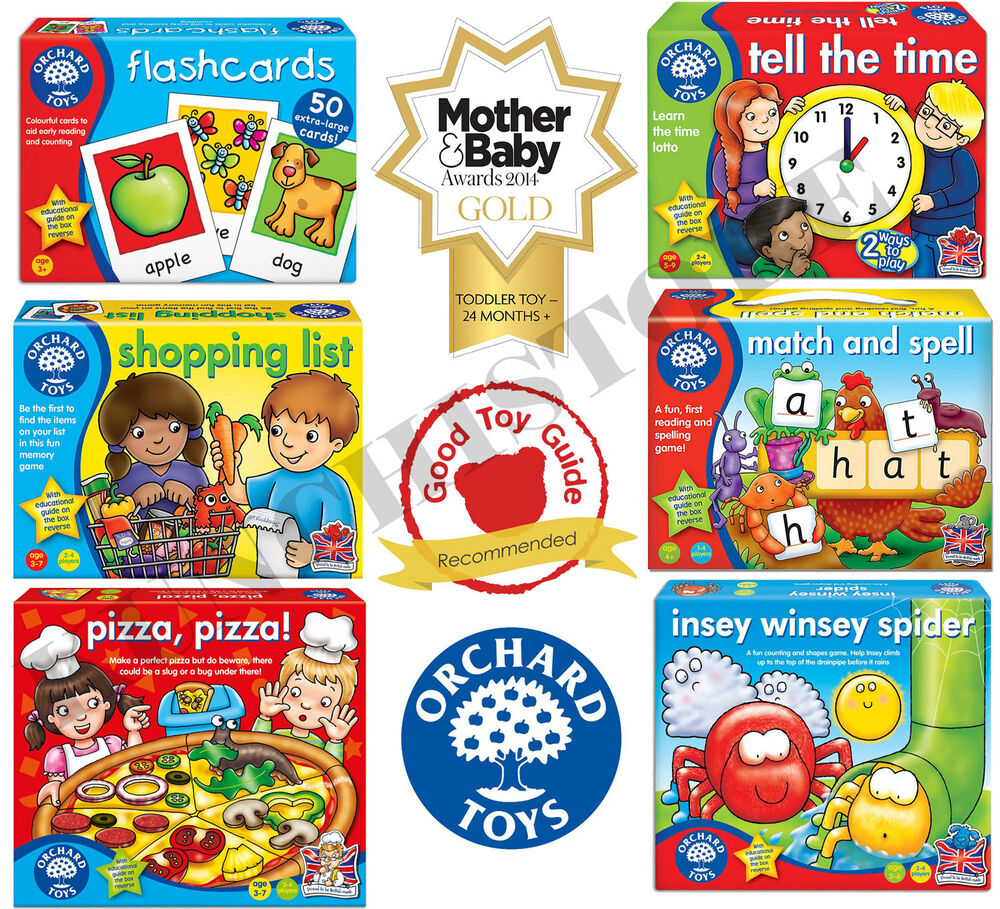 Educational Toys And Games : Orchard toys flash cards games educational board childrens