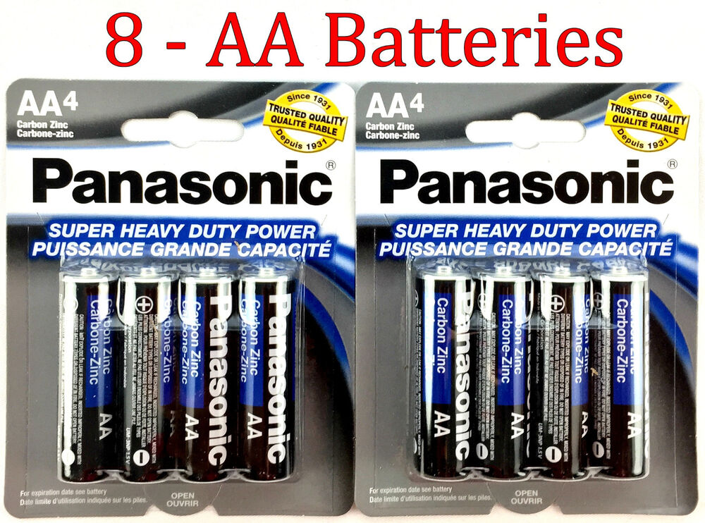 8 Wholesale Panasonic Aa Double A Batteries Heavy Duty