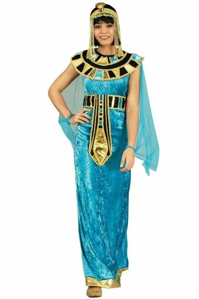 cleopatra kost m f r damen blau kleopatra pharaonin kleid karneval fasching ebay. Black Bedroom Furniture Sets. Home Design Ideas