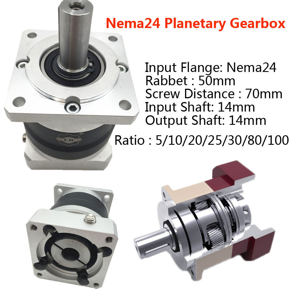 60mm servo motor planetary gearbox ratio 5 1 10 1 20 1 25 for Planetary gearbox for servo motor