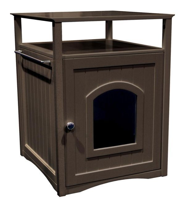Automatic Litter Box Kitty Furniture Cat Enclosed Extra