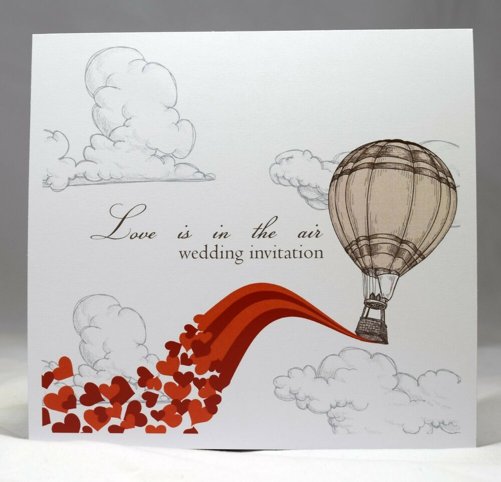 Love is in the Air Vintage Wedding Invites personalised, day ...