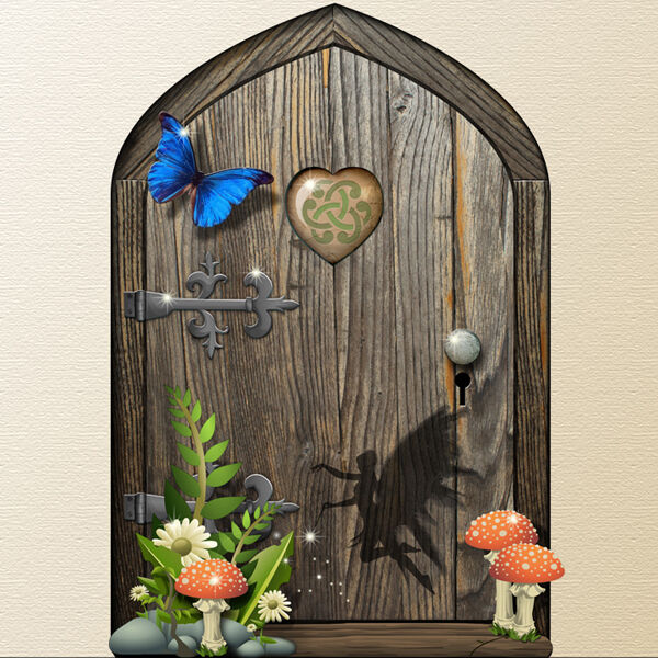 Little fantasy magic elf pixie fairy door above for Fairy door for wall
