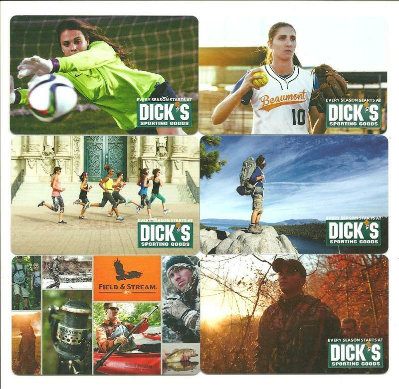 dick s sporting goods gift card lot 6 dick s sporting goods gift cards no value 3139