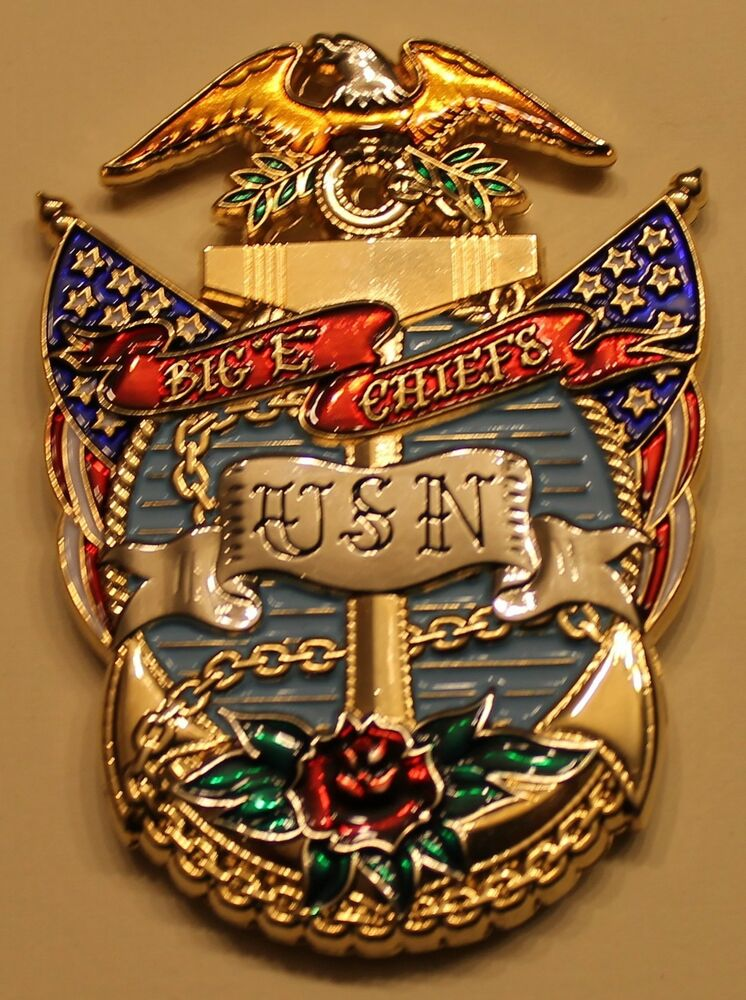 Uss Enterprise Cvn 65 Aircraft Carrier Big Quot E Quot Chiefs