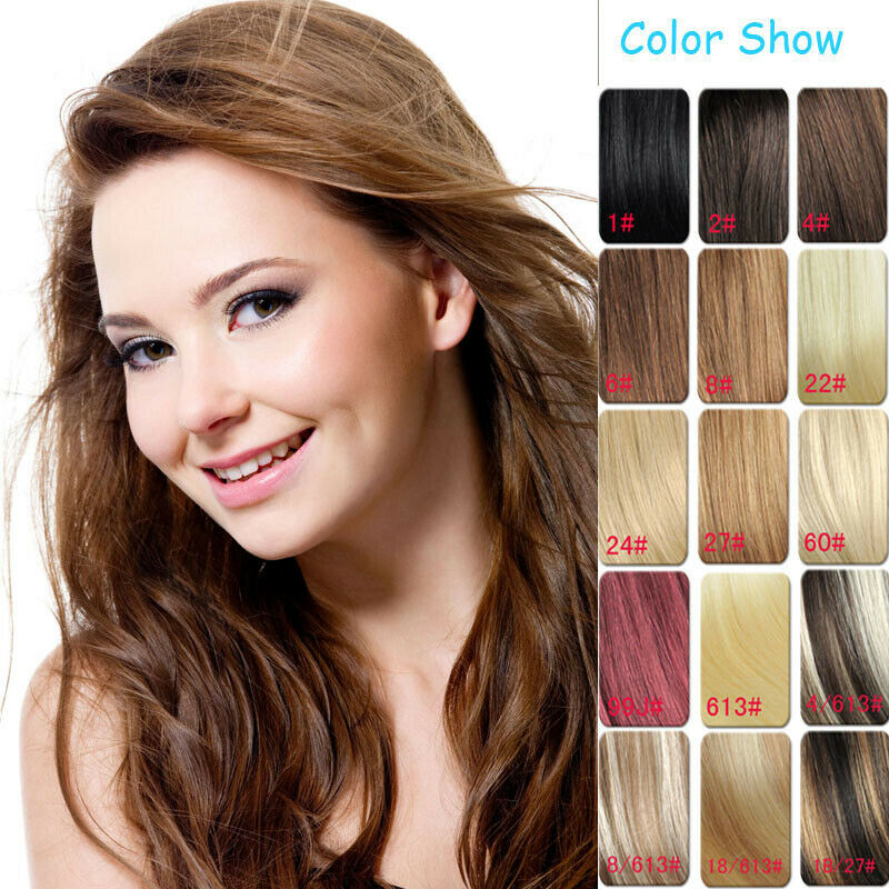 On Sale 14 Clip In Remy Human Hair Extensions 7pcsset Brown Black