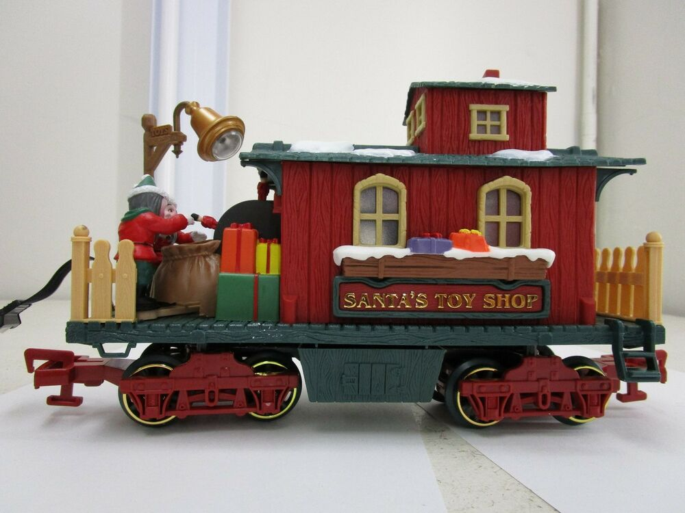 Toy Trains And Christmas : New bright holiday express santa s toy shop christmas