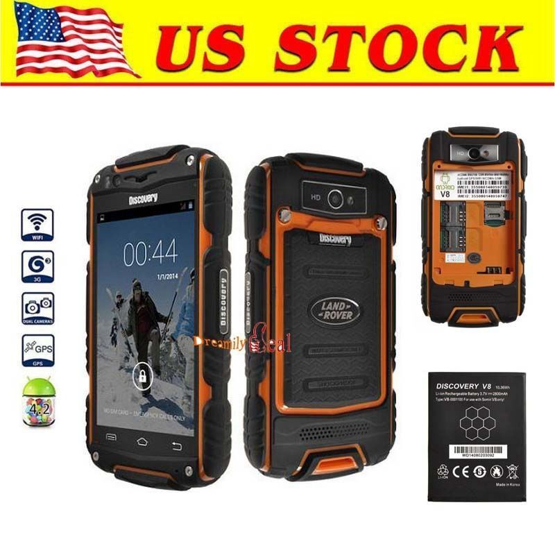 4 Quot Discovery V8 3g Dual Core Smartphone Rugged Android