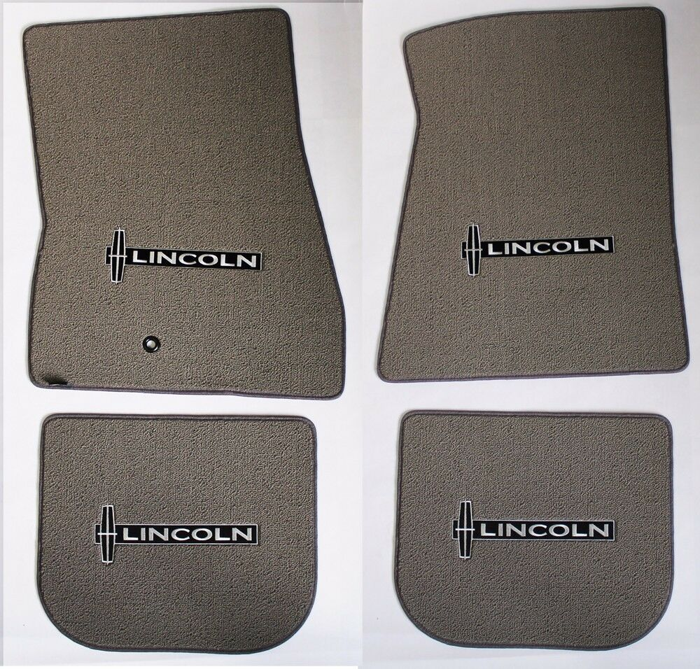 New Grey Floor Mats 1998 2010 Lincoln Town Car Embroidered Star Logo On All 4 Ebay