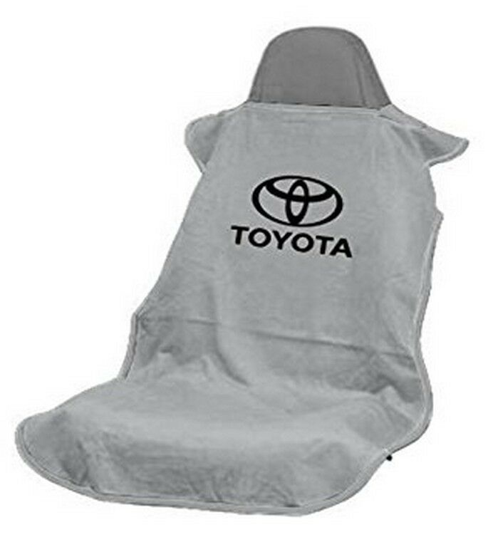 new gray universal seat armour toyota logo front seat cover towel camry corolla ebay. Black Bedroom Furniture Sets. Home Design Ideas