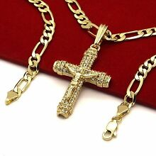 Men's 14k Gold Plated High Fashion Cross