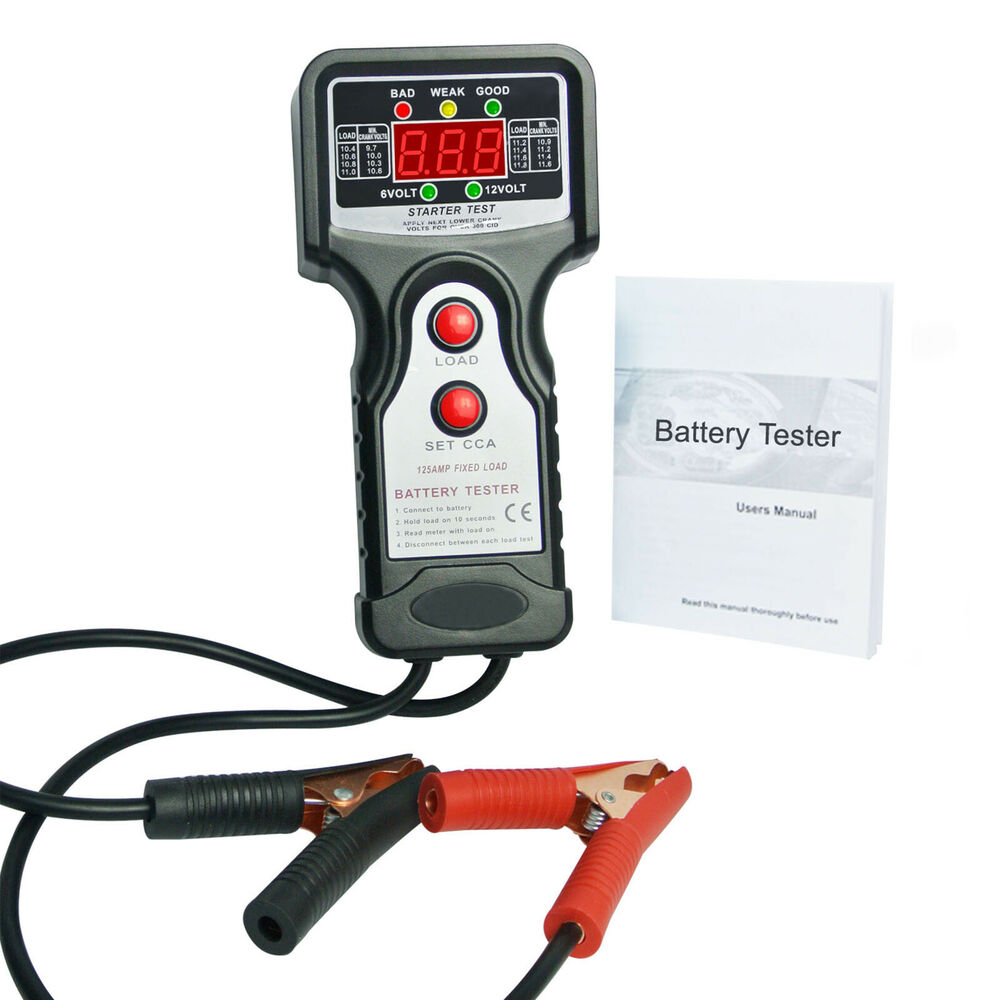 Auto Battery Tester Product : Electronic digital automotive battery tester vehicular