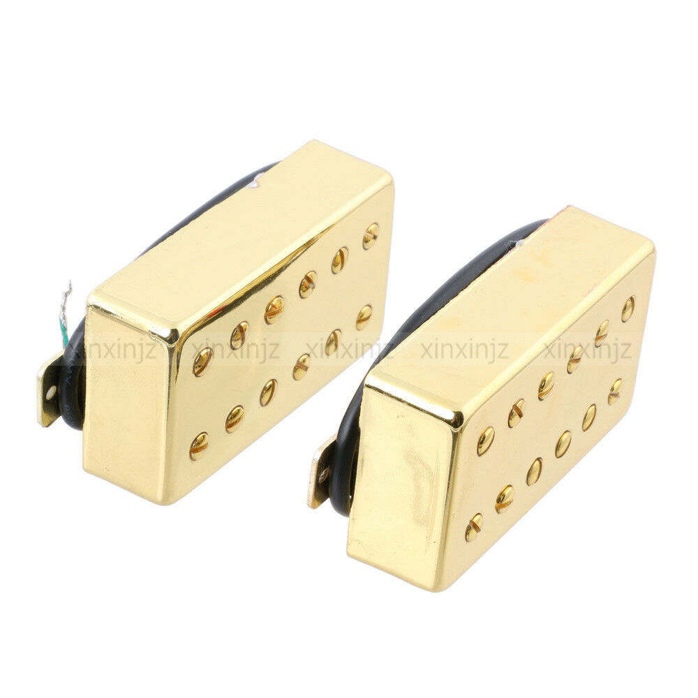 pair double coil humbucker pickup neck and bridge 6 string lp ebay. Black Bedroom Furniture Sets. Home Design Ideas