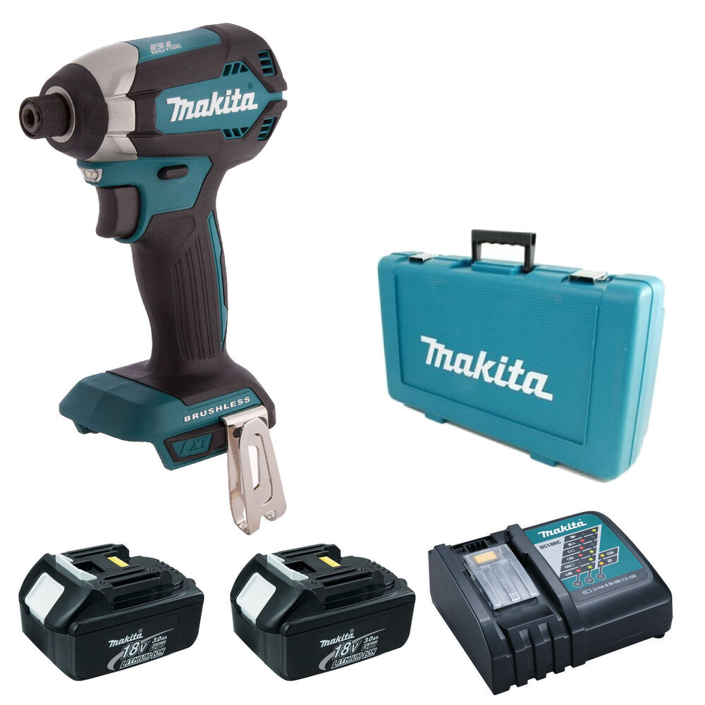makita 18v lxt dtd153 impact driver 2 bl1830 dc18rc case. Black Bedroom Furniture Sets. Home Design Ideas