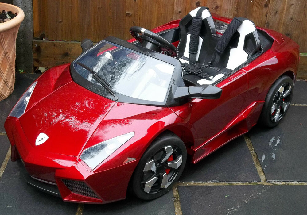 Lamborghini Electric Car For Kids >> Kids Lamborghini Style Sports Car 12v Electric / Battery ride on Car Red Lambo | eBay