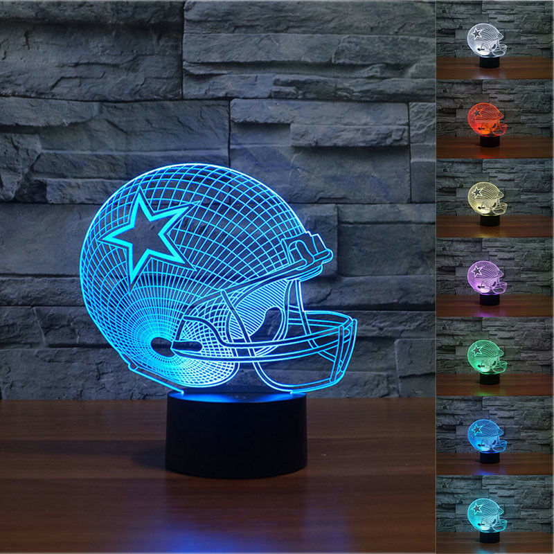 NFL Dallas Cowboys 3D Night Light 7 Color Change LED Table
